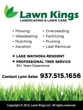 lawn kings landscaping & lawn care advertisement