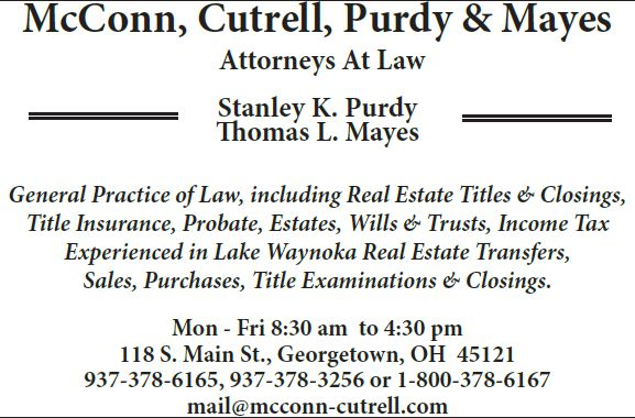 mcconn, cutrell, purdy & mayes, attorneys at law advertisement