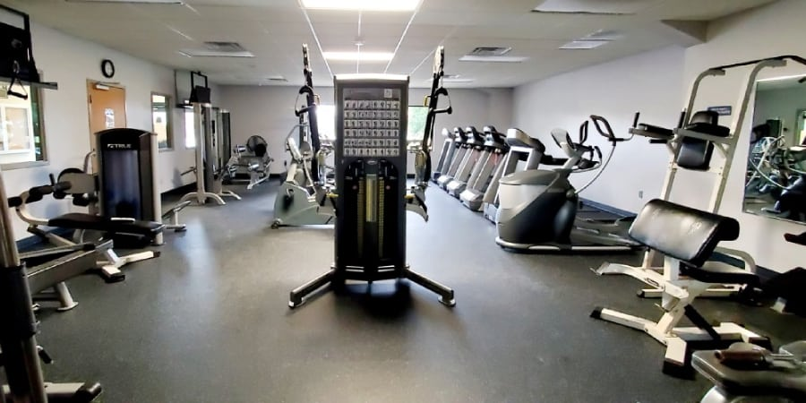 Rec Center Fitness Room View 2